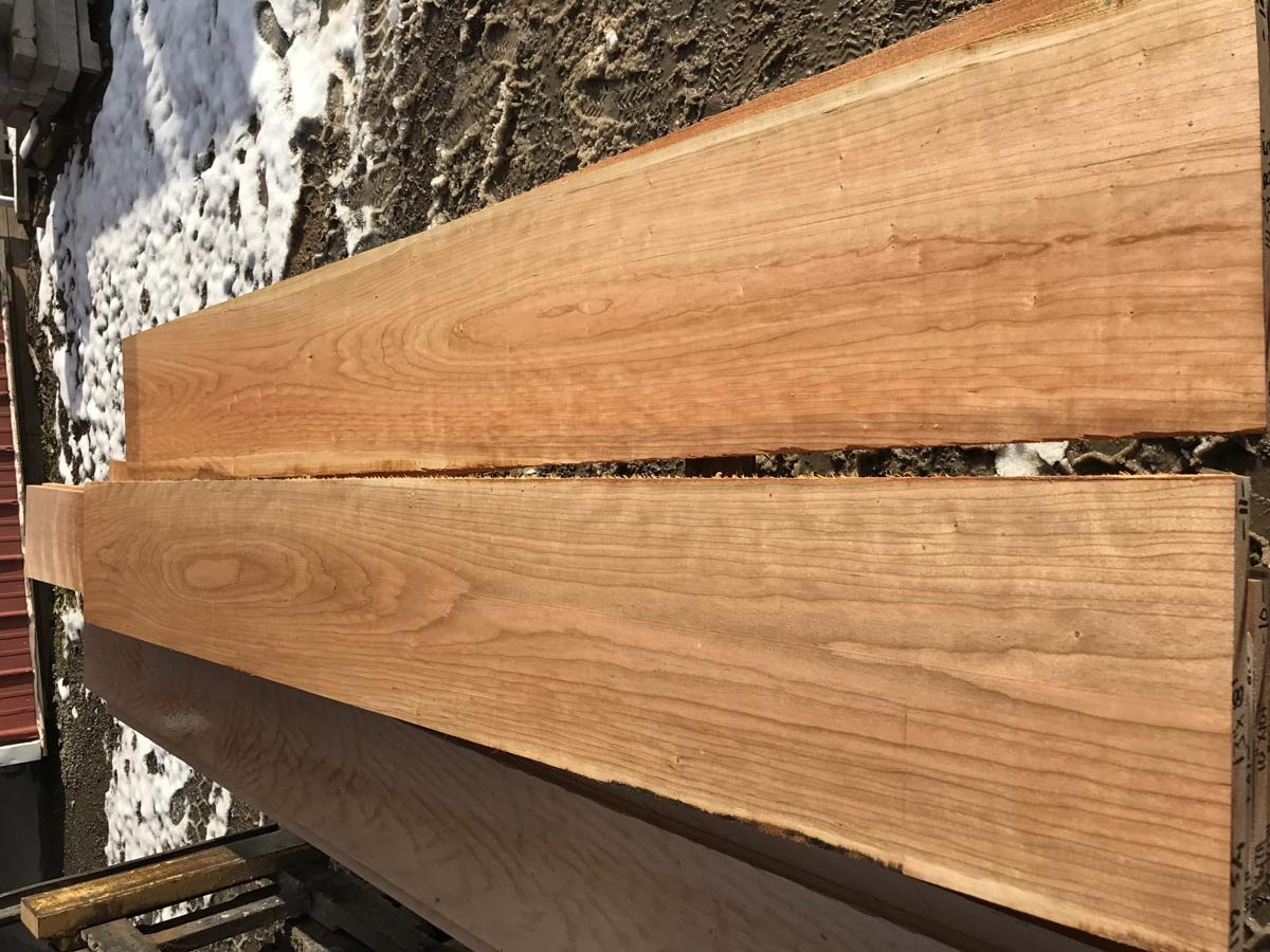 high quality lumber, curly cherry matched set, premium lumber