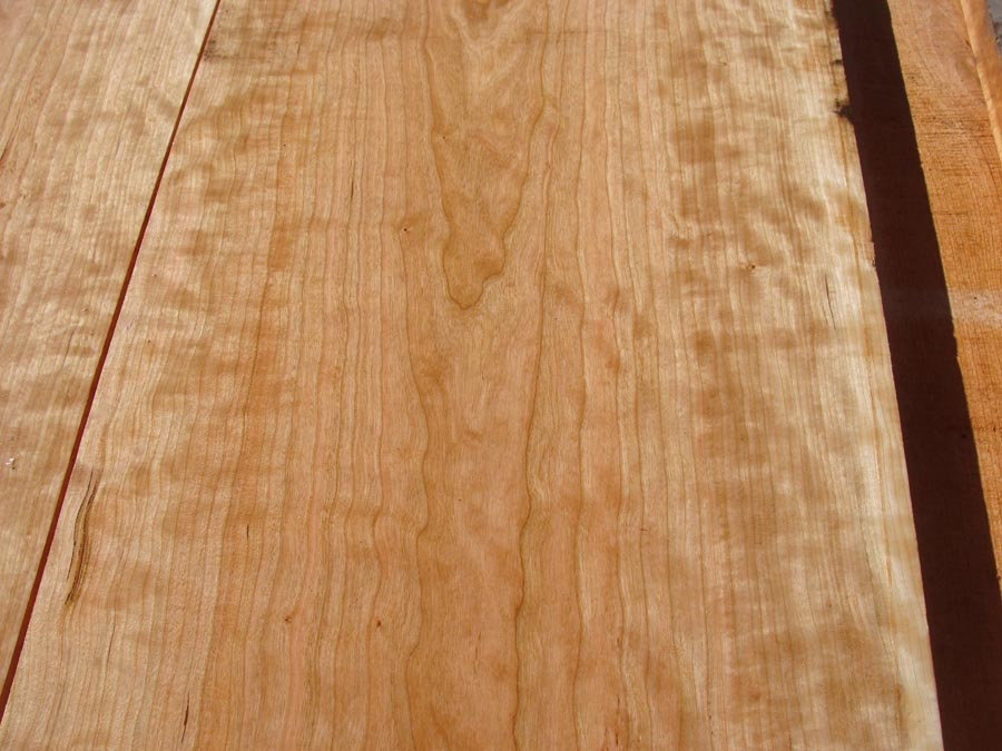 curly cherry, hardwood tops, premium lumber