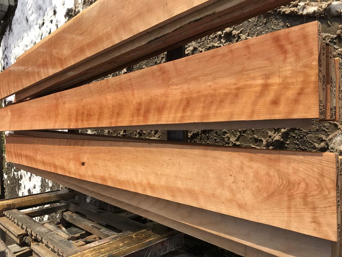 curly cherry, premium lumber, hardwood tops