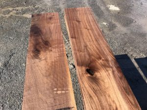 long rustic walnut matched set