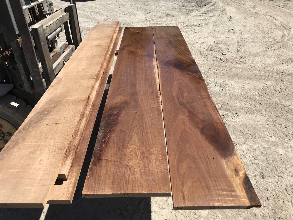 4/4 wide walnut matched set