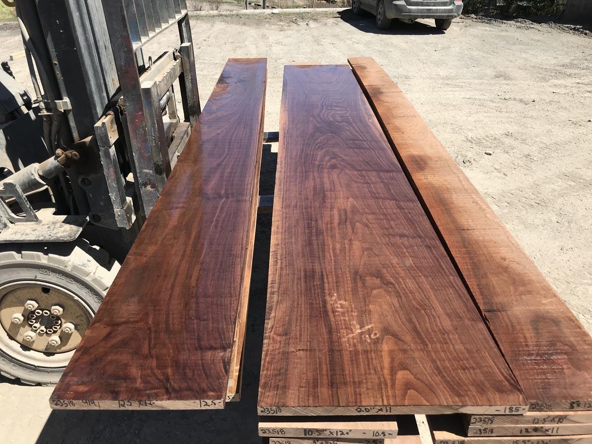 4/4 wide matched walnut set