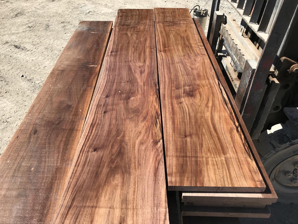 clear wide walnut matched set