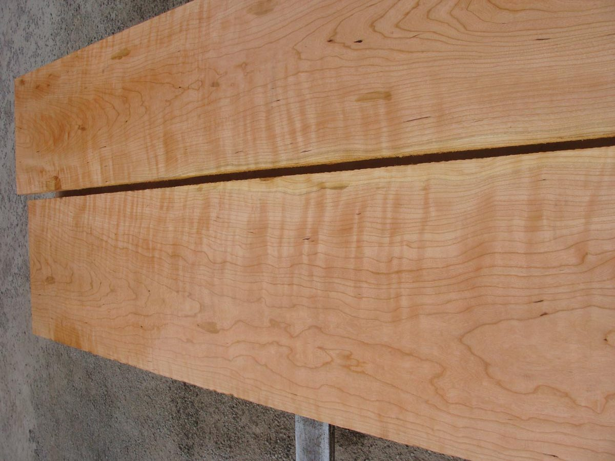 wide curly cherry, premium lumber, hardwood tops