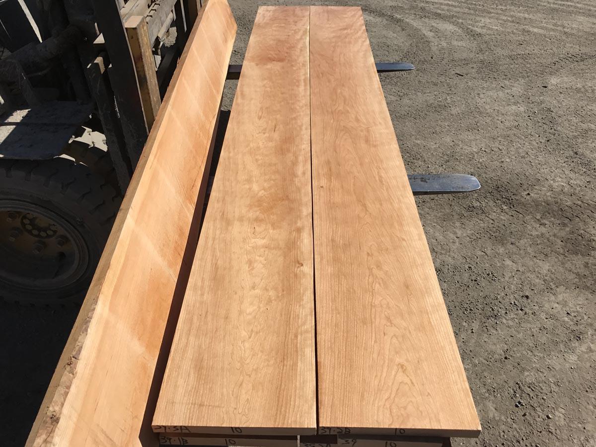 grainy cherry lumber, wide grainy cherry, premium lumber