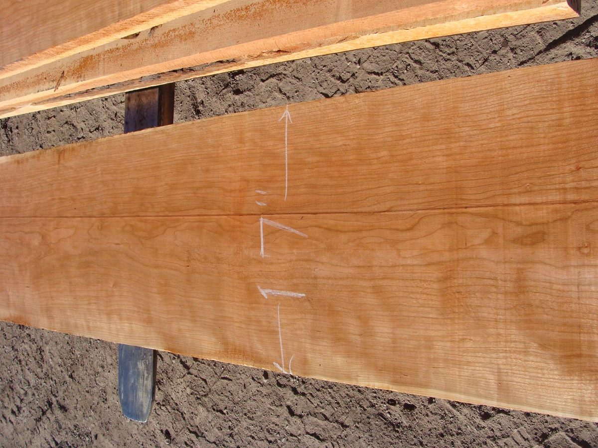 9/4 curly cherry, curly cherry premium lumber, hardwood tops