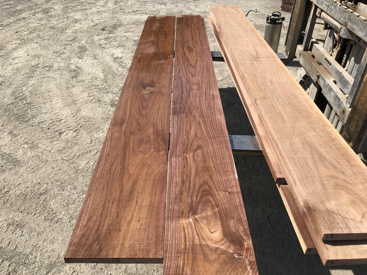 5/4 wide walnut matched set