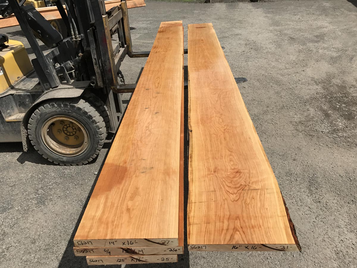 wide, long cherry matched set