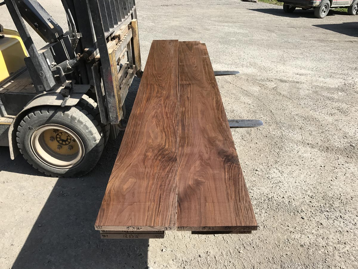 wide walnut matched set