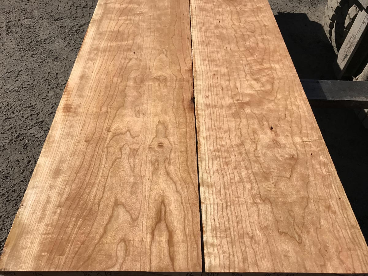 curly cherry, premium lumber, high quality lumber