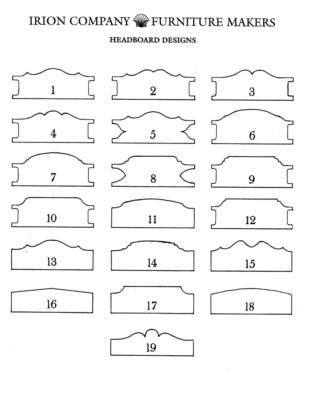 Irion Lumber Company - Headboard Designs