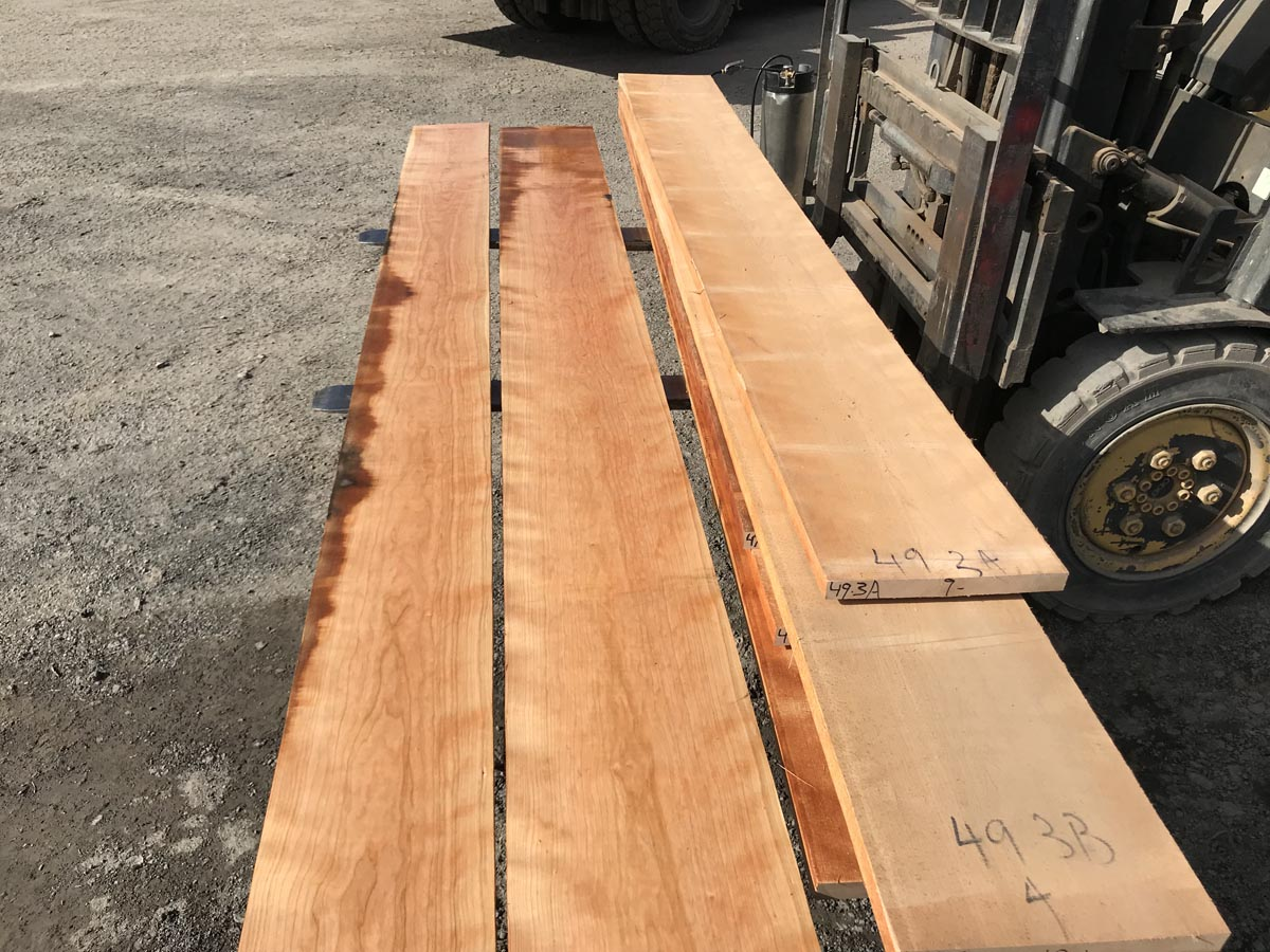wooden tabletops, hardwood tabletops, curly cherry