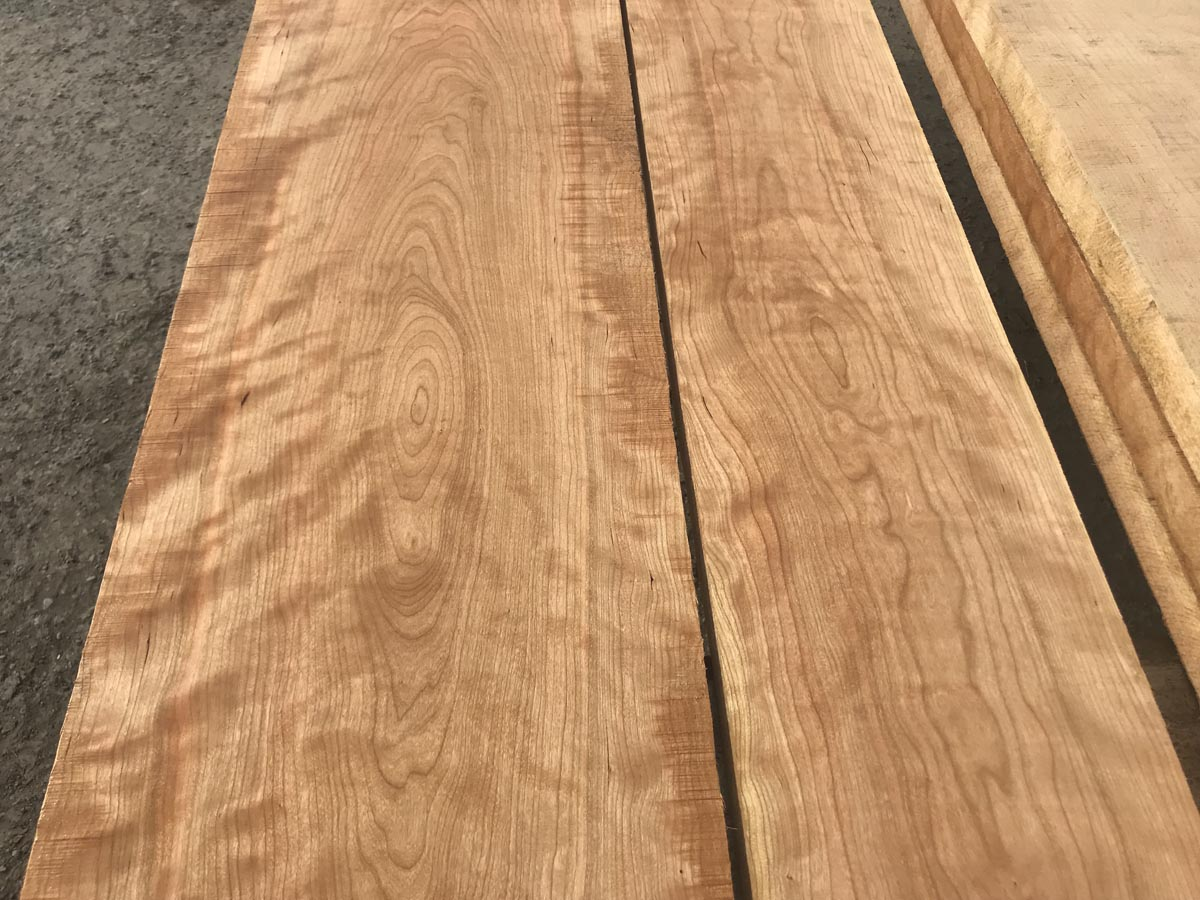 hardwood tabletop, wooden tabletop, curly cherry