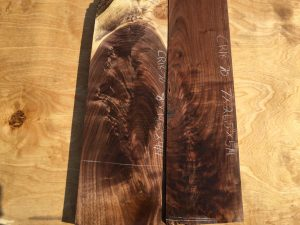 walnut crotches, door panels, drawer panels