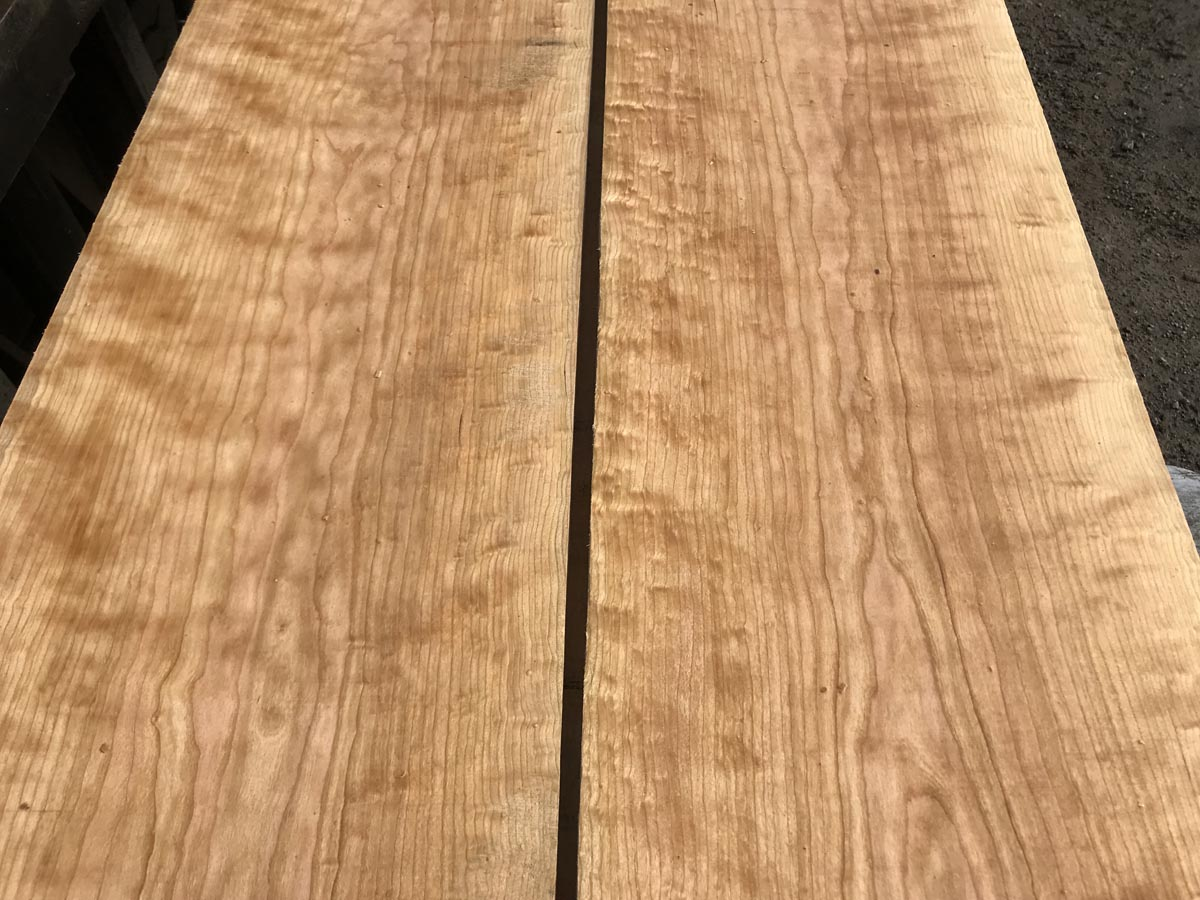 wooden tops, hardwood tops, curly cherry