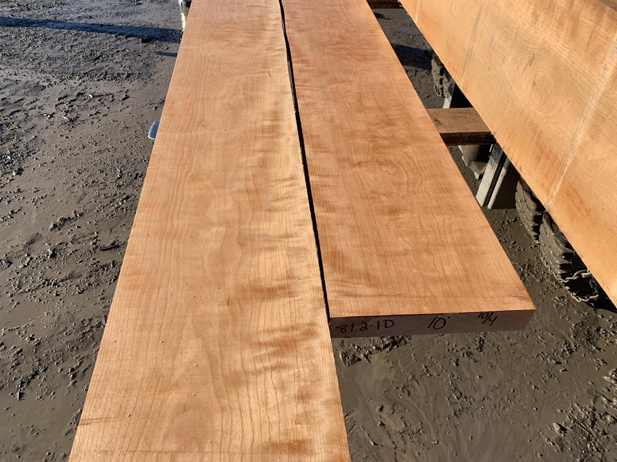 hardwood tops, wooden tops, curly cherry
