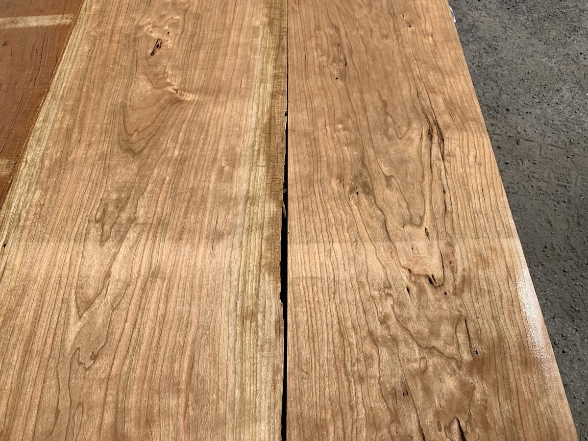 custom hardwood, wooden tops, curly cherry