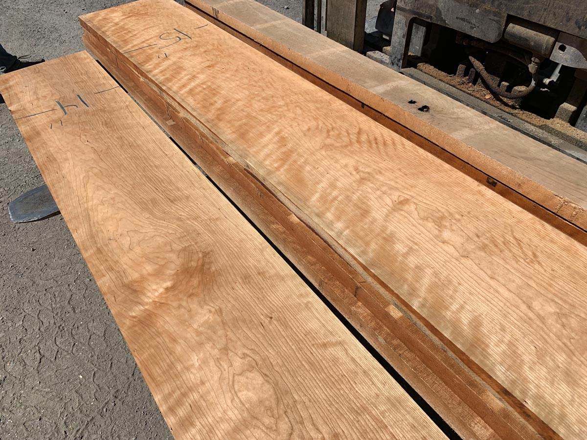 custom hardwood, curly cherry