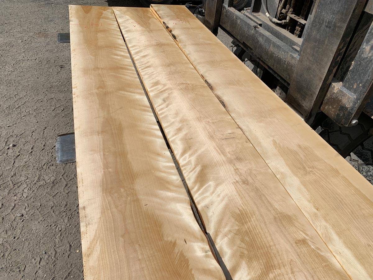 wooden tops, hardwood tops, flame birch tabletop