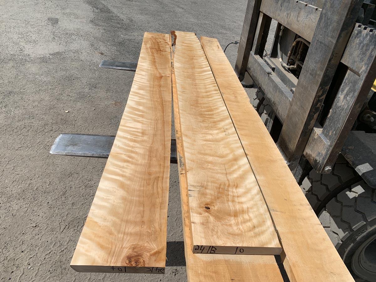 wooden tops, hardwood tops, flame birch