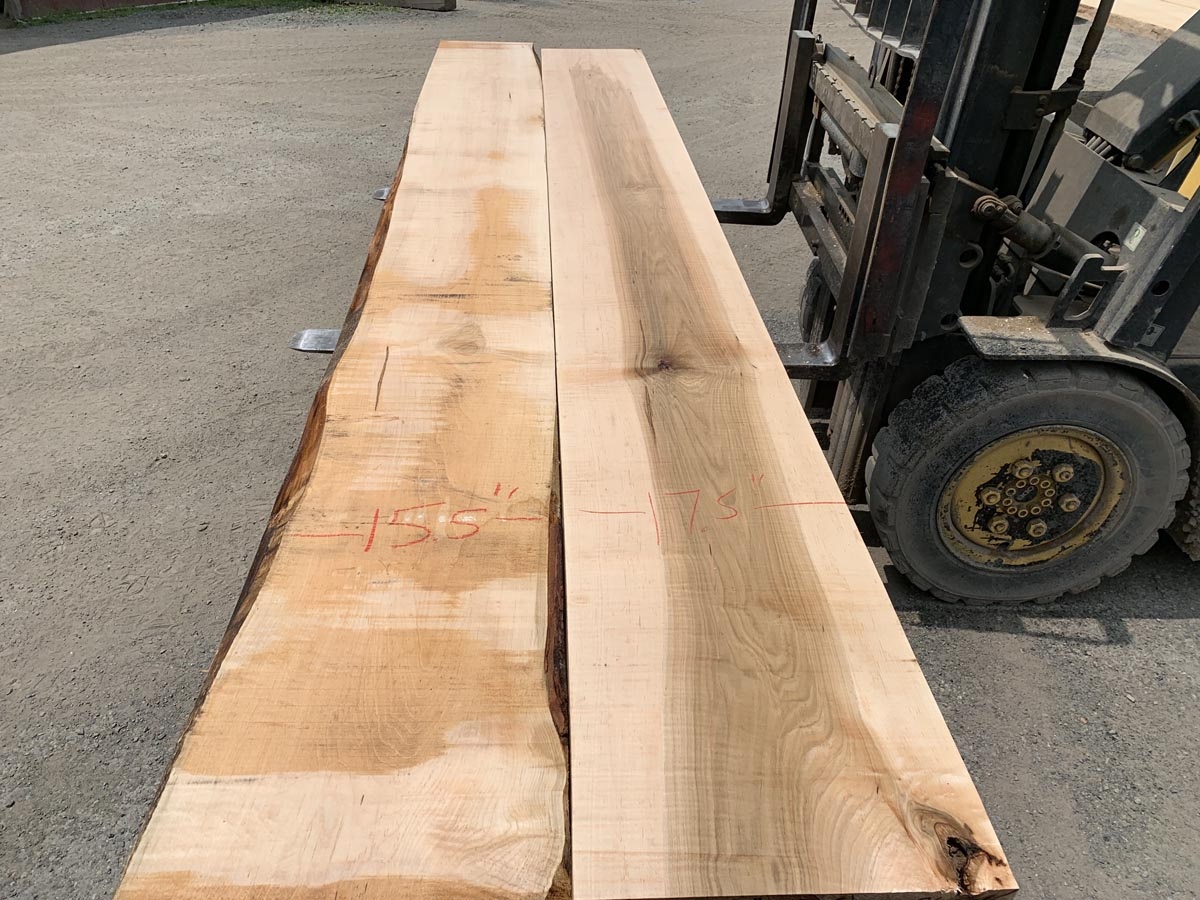 wide lumber, thick lumber, wooden tops, tabletops, maple