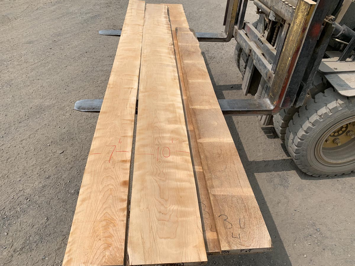 Premium lumber, wooden tops, curly birch