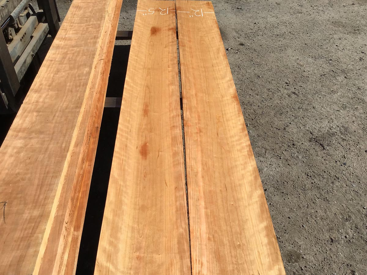 wooden tops, wide lumber, curly cherry
