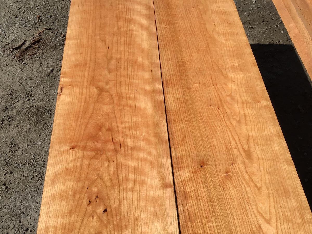 wooden tops, hardwood tops, curly cherry