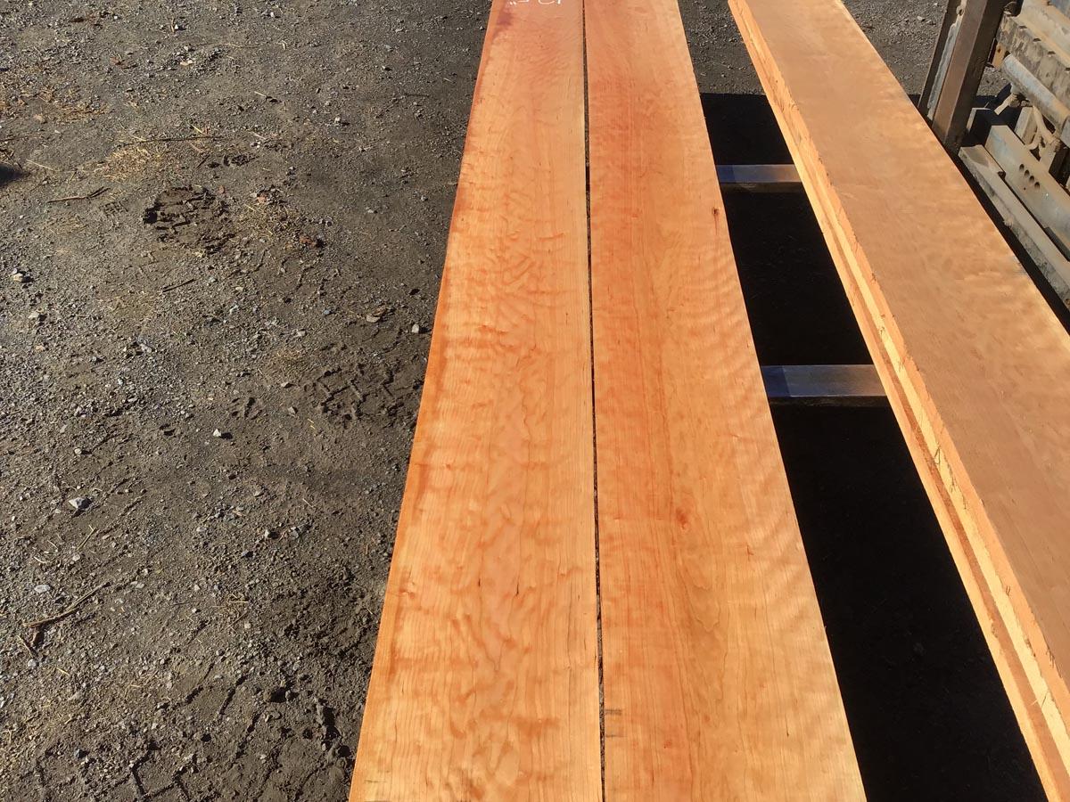 wooden tops, hardwood tops, wide curly cherry