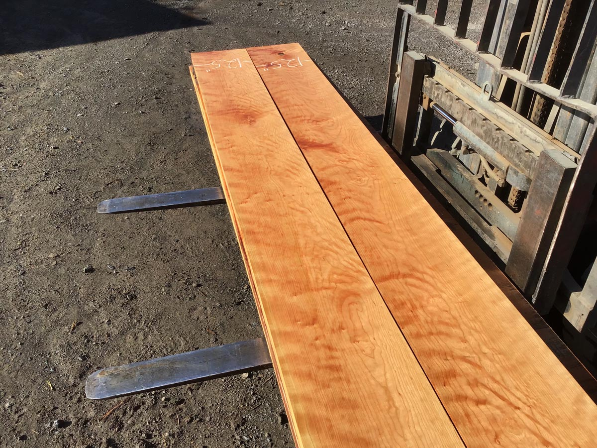 hardwood lumber, wooden tops, curly cherry
