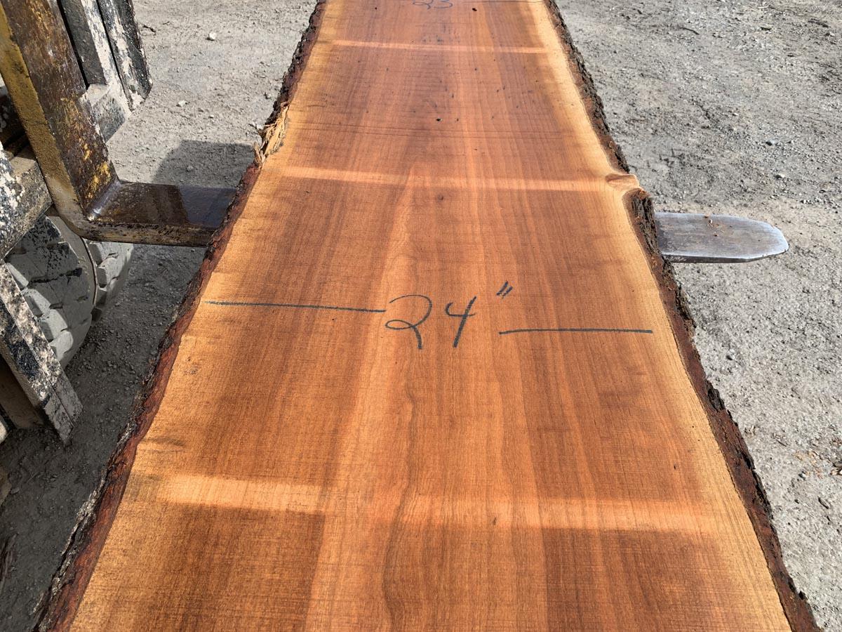cherry live edge slab