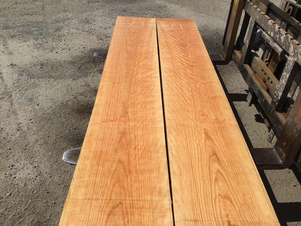 wooden tops, hardwood tops, wide curly cherry