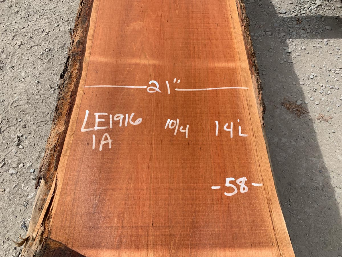 cherry live edge slab