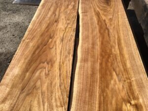 wooden tops, hardwood tops, curly butternut