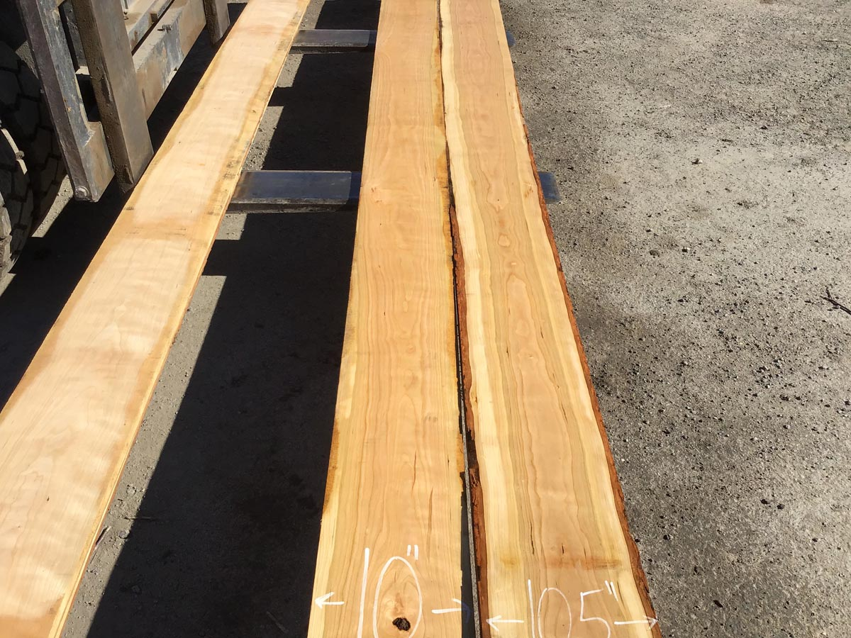 wooden tops, hardwood tops, long cherry