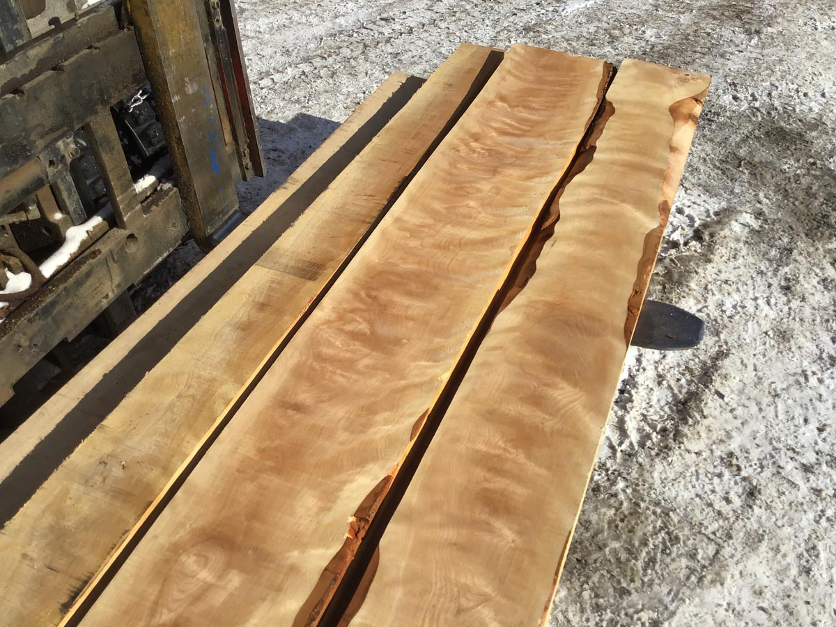 wooden tops, high quality flame birch, premium lumber