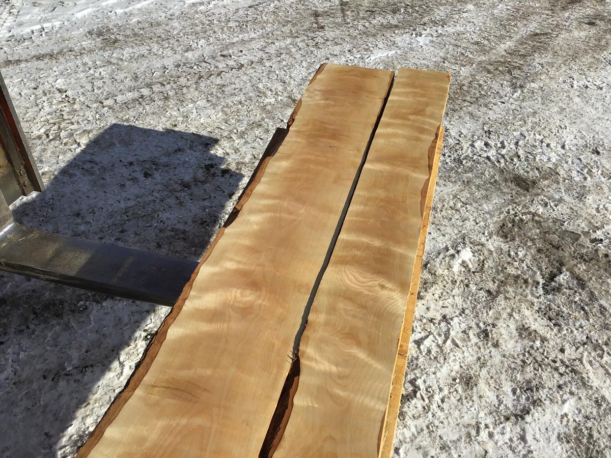 wooden tops, premium lumber, curly birch