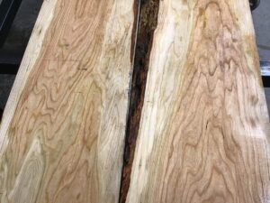 wooden tops, hardwood tops, premium calico cherry