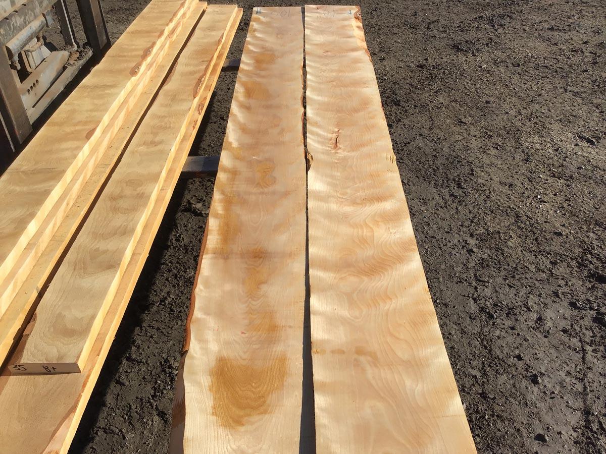 wooden tops, flame birch, premium lumber