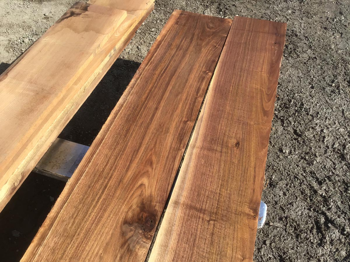 walnut lumber, unsteamed walnut, hardwood tops