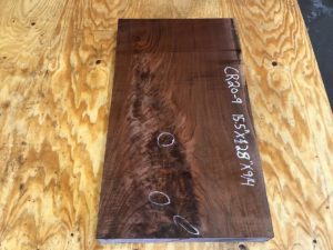 walnut crotch, door panels, drawer panels