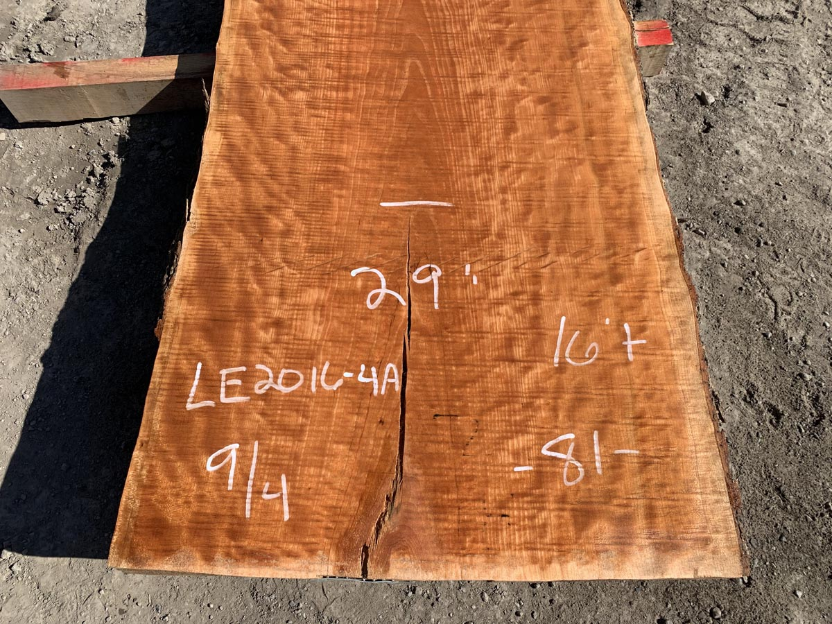 curly cherry slab, live edge curly cherry, premium lumber