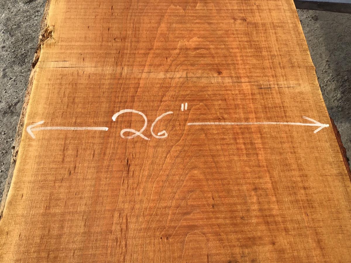 cherry slab, live edge cherry slab, wooden tops, premium lumber