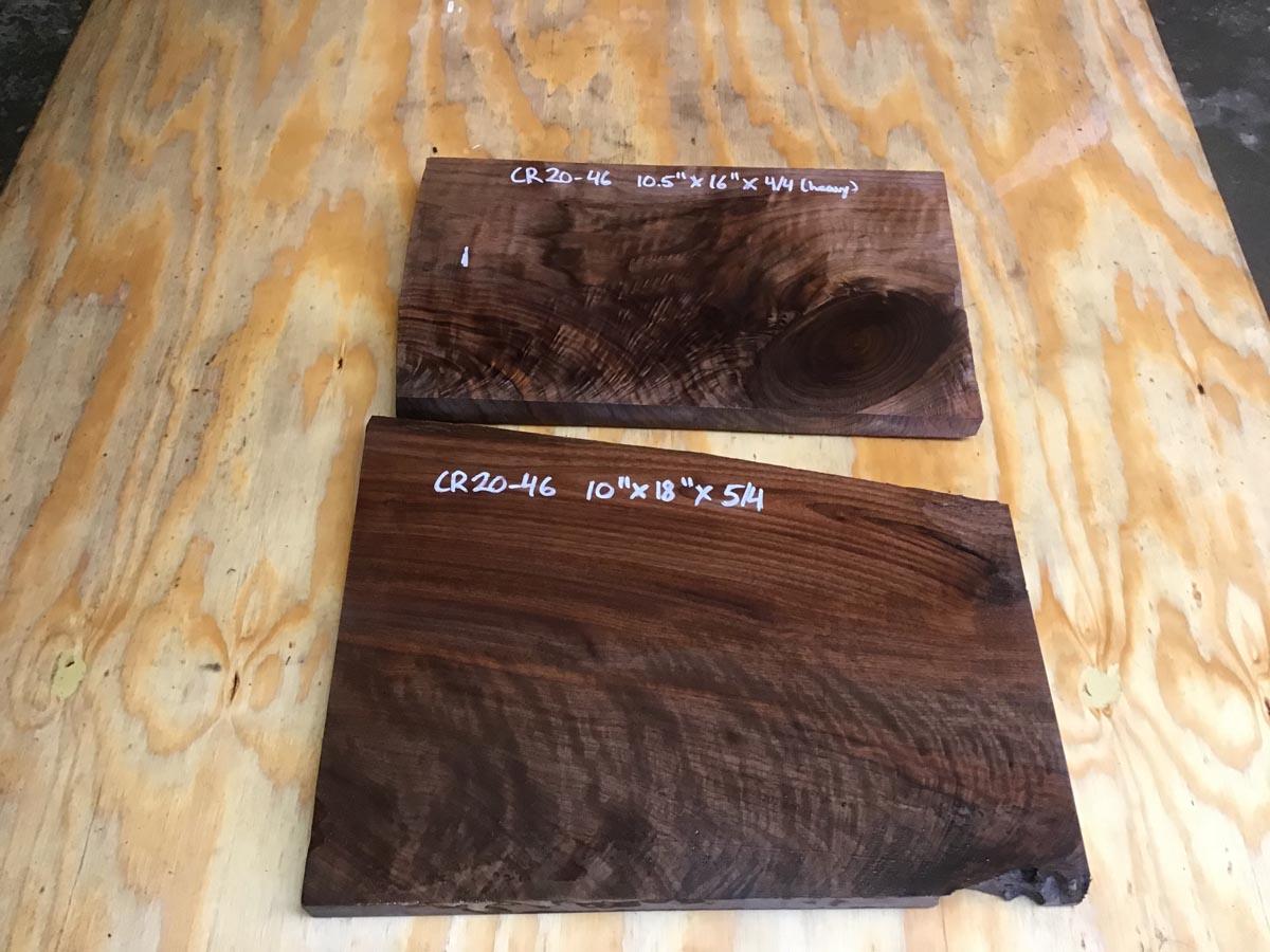 walnut crotch, drawer panels, door panels, figured walnut