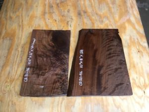walnut crotch, drawer panels, door panels, figured walnut