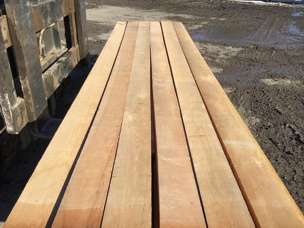 six inch cherry grade lumber, wooden tops, hardwood tops
