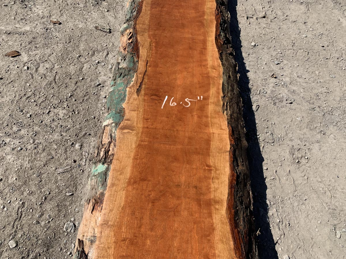 live edge curly cherry, curly cherry slab, wooden tops, tabletops