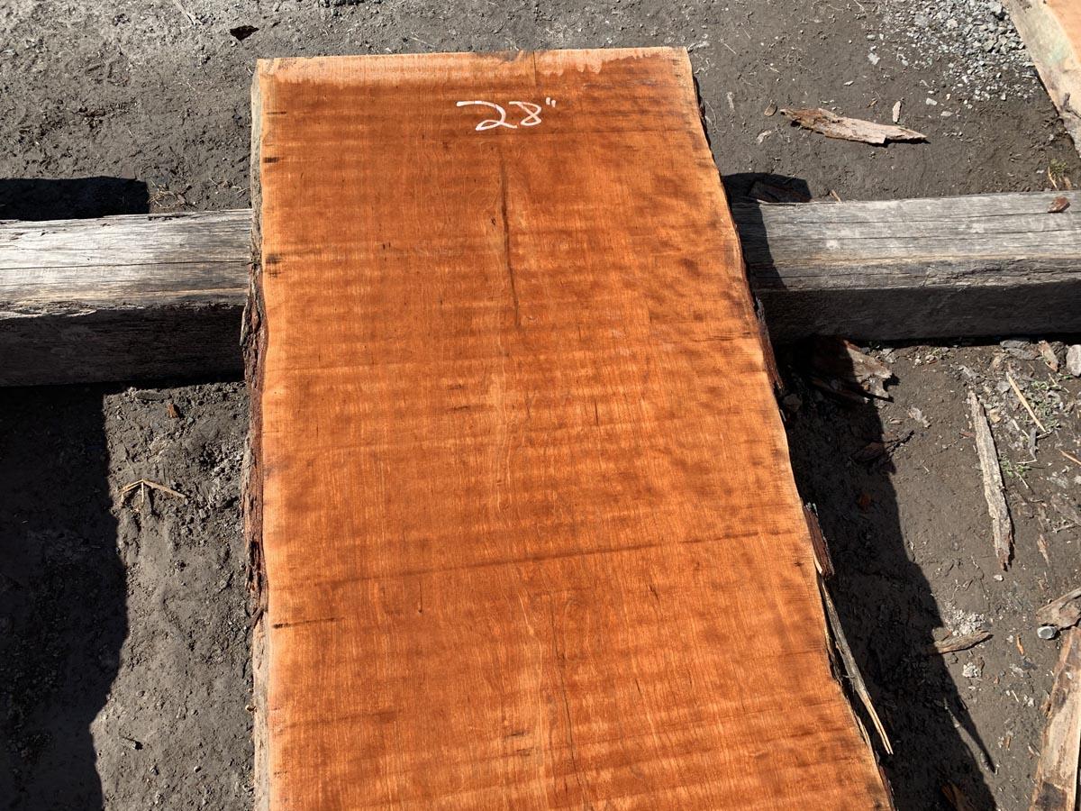 live edge curly cherry, curly cherry lumber, premium lumber, high quality lumber