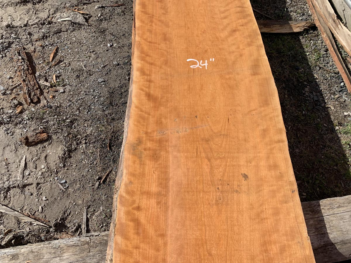 live edge curly cherry, wooden tops, hardwood tops, premium lumber