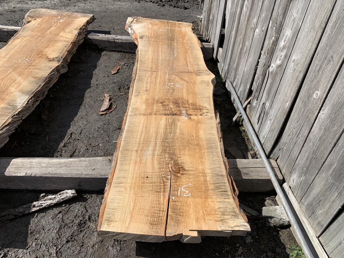 live edge ash, hardwood tops, premium lumber
